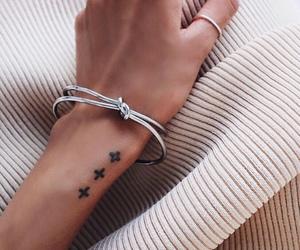 tattoo, girl, and hand image