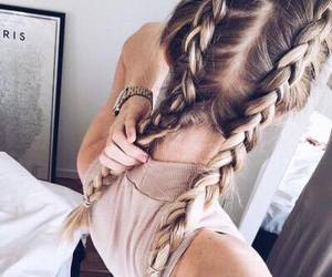 braids, girl, and hairstyle image