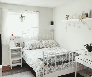 bedroom, cozy, and grey image