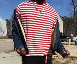 boy, fashion, and red image