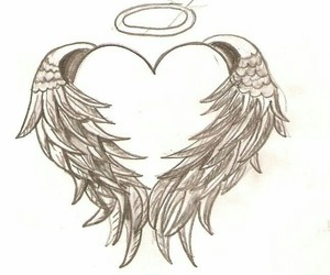 tattoo, Tattoos, and tattoo angel heart image