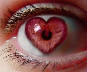 heart, eye, and pink image