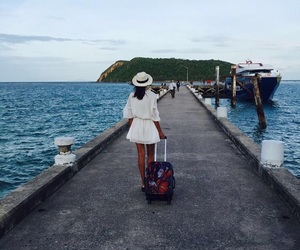 back, girl, and travel image