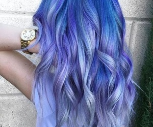 blue, hairstyle, and lila image