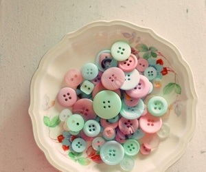 buttons and pastel image