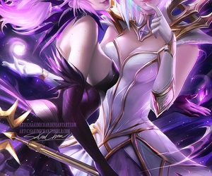 lux, league of legends, and anime image