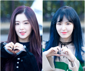 blue hair, wendy, and irene image