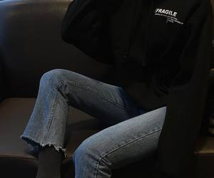 aesthetic, dark, and jeans image