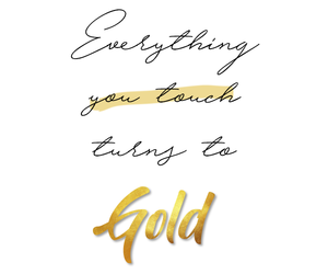 gold and quote image