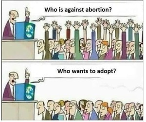 abortion, political, and adoption image