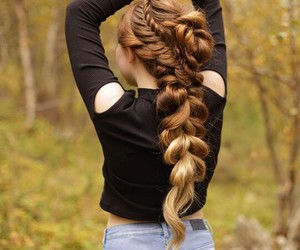 fall, hairstyle, and nature image