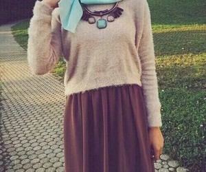 hijab, style, and brown image
