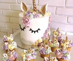 unicorn, cake, and sweet image