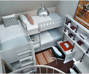 bedroom and bunk beds image