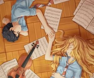 anime, background, and kosei arima image