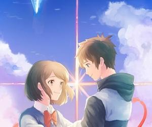 anime, your name, and lockscreen image