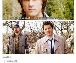 castiel, supernatural, and funny image