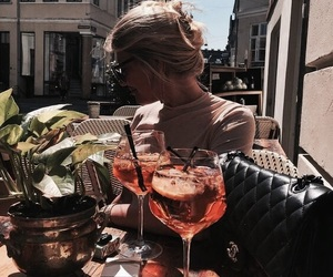 girl, drink, and summer image