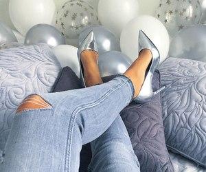 balloons, fashion, and girl image