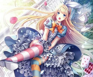 alice in wonderland, anime, and girl image
