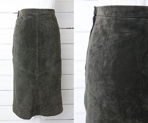 etsy, leather skirt, and pencil skirt image