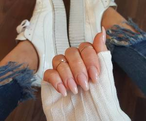 chic, nails, and outfit image