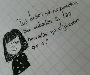 Besos, dibujo, and frases image