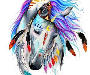 horse, art, and unicorn image