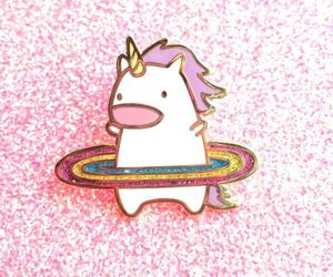 unicorn, glitter, and rainbow image