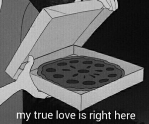 hipster, pizza, and love image
