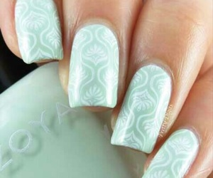blue, light blue, and nails image