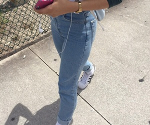 adidas, jeans, and tumblr image