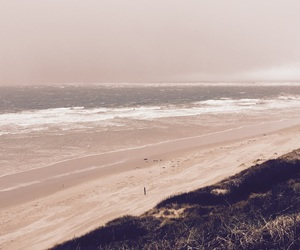 beach, cloudy, and cold image