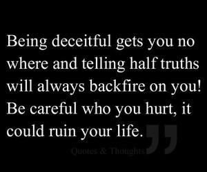 deceit, life, and hurt image