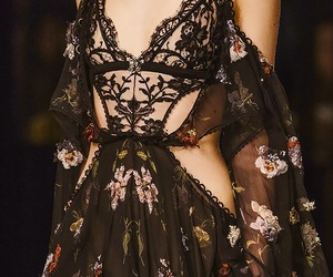 Alexander McQueen, flowers, and models image