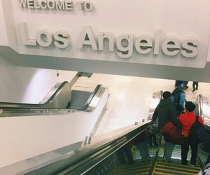 airport and los angeles image