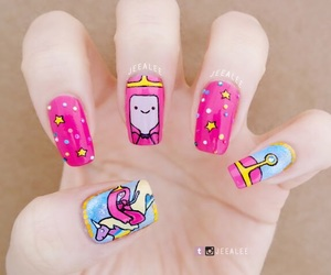 nails, adventure time, and pb image