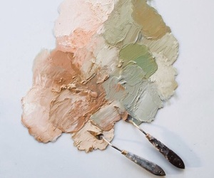 green, paint, and paint mixing image