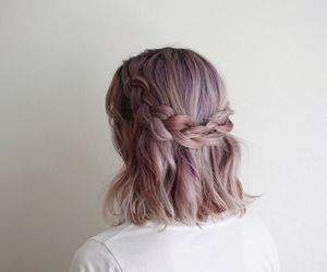 hair, rose gold, and little boobs image