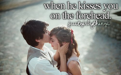 Why would a guy kiss you on the forehead
