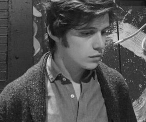 black and white, boy, and nick robinson image