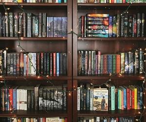 books, bookshelves, and shelves image