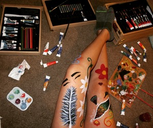 art, body paint, and eyebrows image