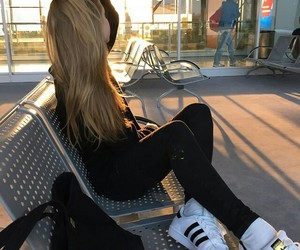 girl, adidas, and hair image
