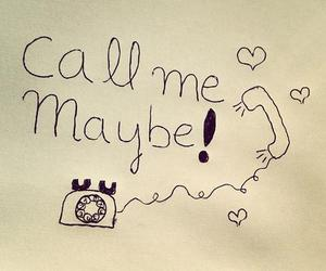 call me maybe, song, and telephone image