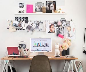 desk, interior, and home image