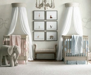 bed room, boy, and girl image