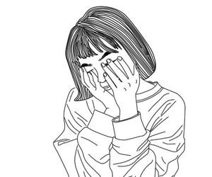 drawing, girl, and moda image