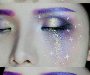 eyes, face, and glitter image