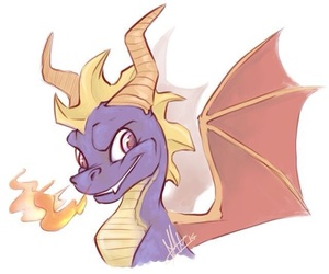 drawing, game, and spyro image